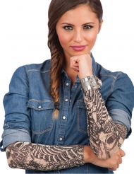 Tatueringsärmar med skelett