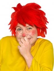 Pumuckl™ röd peruk vuxen