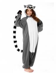 Kigurumi™ lemur vuxen
