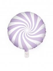 Aluminiumballong vitlila godisklubba 45 cm