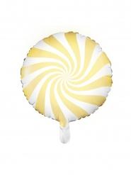 Gulvit aluminiumballong odisklubba 45 cm