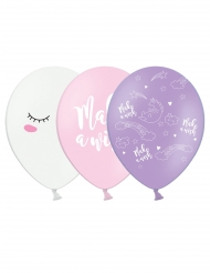 6 Enhörningsballonger av latex 30 cm