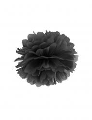 Hängande svarta pappersblommor 35 cm