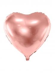 Aluminiumballong Hjärta rosa guld 45 cm