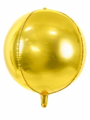 Guldig rund aluminiumballong 40 cm