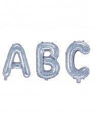 Färgsprakande aluminiumballong alfabetet 35 cm