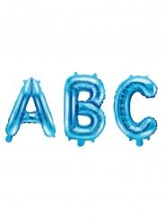 Bokstav blå aluminiumballong 35 cm