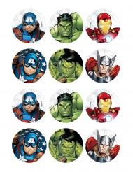 12 Avengers™ kakdekorationer 5,8 cm