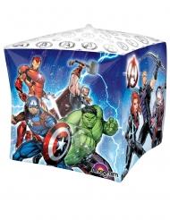 Avengers™ Aluminiumballong kub 38x38 cm