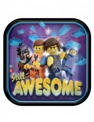 8 Lego-filmen 2™ fykrantiga tallrikar Awesome 18x18 cm