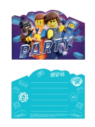 8 Lego-filmen 2™ inbjudningskort och kuvert