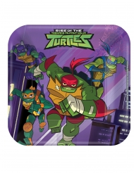 8 Rise of the Teenage Mutant Ninja Turtles™ fyrkantiga tallrikar 18x18 cm