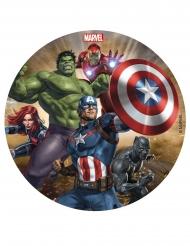 Avengers™ tårtlock av socker 16 cm