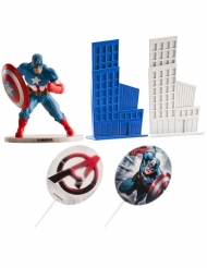 Captain America™ tårtdekorationer 8 cm