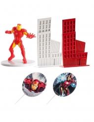 Iron Man™ tårtdekorationer 8 cm