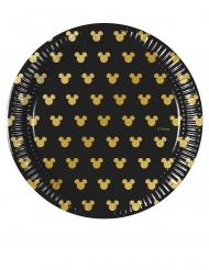 8 Musse Gold™ små papptallrikar 20 cm