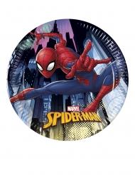 8 Spiderman™ små tallrikar 20 cm