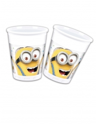 8 Minions™ ballongparty plastmuggar 200 ml