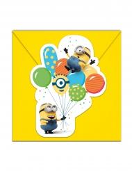 6 Minioner Ballongparty™ inbjudningskort