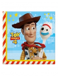 20 Toy Story 4™ pappersservetter 33x33 cm