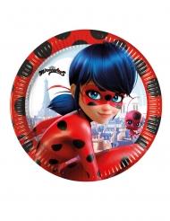8 Små Miraculous Ladybug™ papptallrikar 20 cm