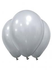 12 Silverballonger i latex 28 cm
