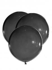 5 Jättestora svarta ballonger 47 cm