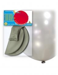 Jättestor silverballong i latex 80 cm