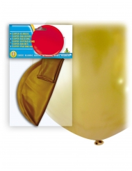Jättestor guldfärgad latexballong 80 cm