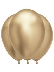 6 guldiga latexballonger 31x39 cm