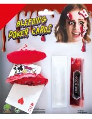 Sminksats med blodiga kort