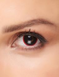 Kontaktlinser fantasy svarta pupiller med röd kant