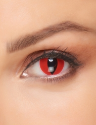 Fantasy röda kattögon-kontaktlinser vuxen 3 månader