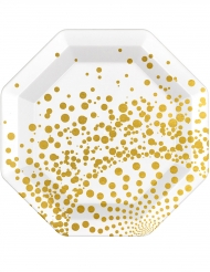 6 lyxiga guldtallrikar 23 cm