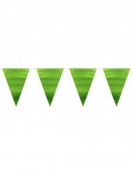 Grön metallisk vimpelgirlang 6 meter