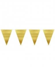 Girlang med guldfärgade fanor 6 m