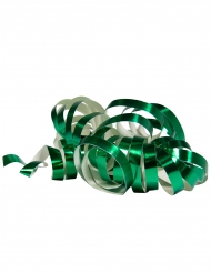 2 Rullar med metalliskt gröna serpentiner 4 meter