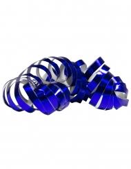 2 Rullar med metallblå serpentiner 4 m