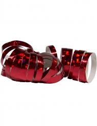 2 Rullar med glansigt röda serpentiner 4 m