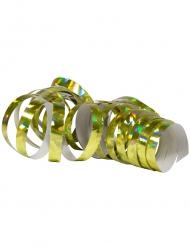 2 Rullar med glansigt guldiga serpentiner 4 m