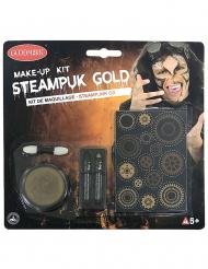 Guldigt steampunk-smink