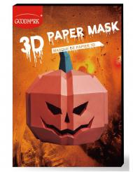 Pumpa pappersmask 3D vuxen