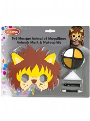 Lejonmask med smink barn