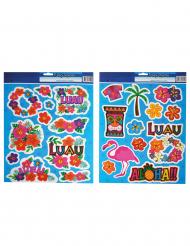 2 Blad med Hawaii-klistermärken