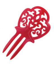 Rött spanskt hårspänne