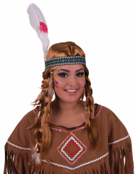 Indian peruk med pannband vuxen
