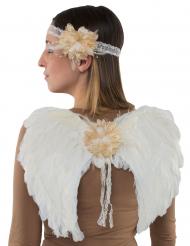 Kit med änglavingar och pannband vuxen