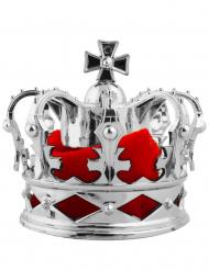 Hårklämma med silvrig kungakrona