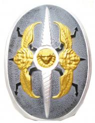 Silversköld med änglavingar 60x40 cm