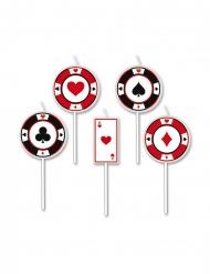 5 Tårtljus poker 8 cm